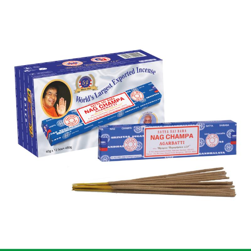 Nag Champa Wierook - Nag Champa Agarbatti - 40 gram Wierook