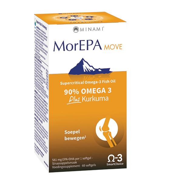MorEPA MOVE 60 softgels - met omega 3-vetzuren en curcumine