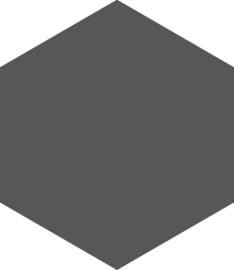 Hexagon graphite 17,5x20,2cm