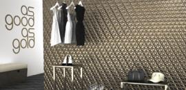 Diamond Waves Gold 70x40cm