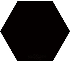 Hexagon Monocolores Black 22,5x25,9cm