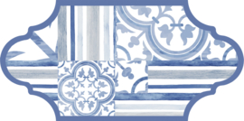 Provenzal Royal Garden Blue 16x33cm