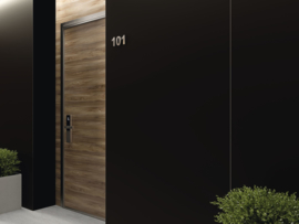 Zwart  mat, 80x160cm, gerectificeerd