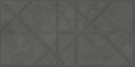 Brugge Antracite decor 45x90cm