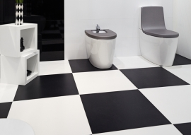 Witte vloertegels 45x45cm