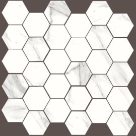 Statuario DUR Mosaico Hex 30x30cm