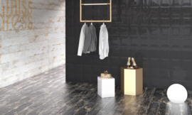 Larvik black 20x120cm