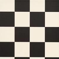 dambord tegels ; zwart met wit