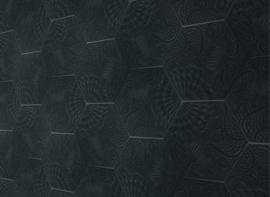 Gaudi Black Hexagon 22x25cm