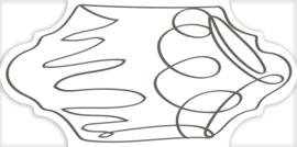 Provenzal Sketch Thin Grey 16x33cm