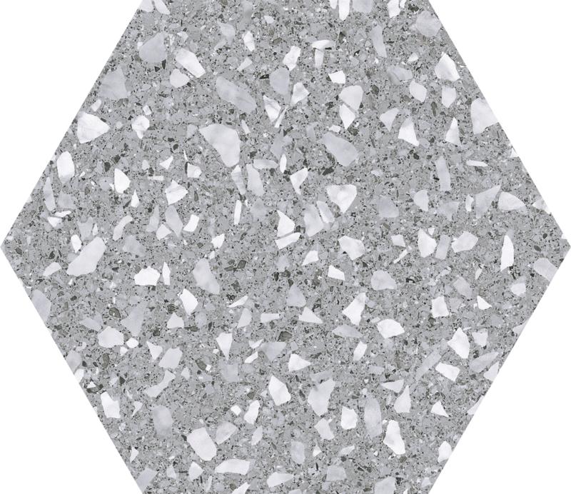 Venice Silver Hexagon 22x25cm