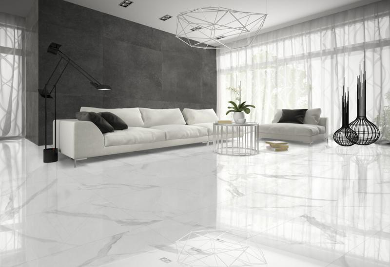 White soul polished 75x75cm