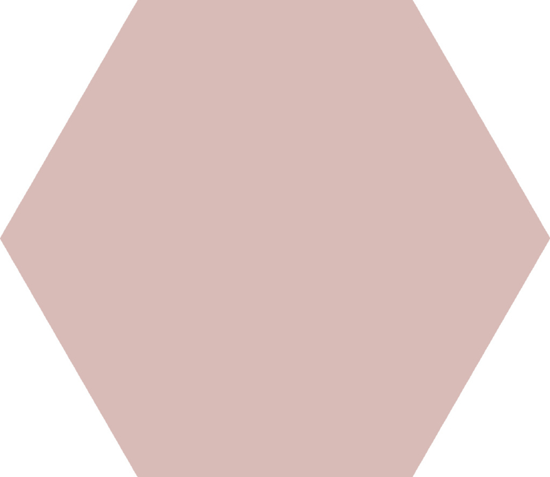 Basis Rose Hexagon 22x25cm