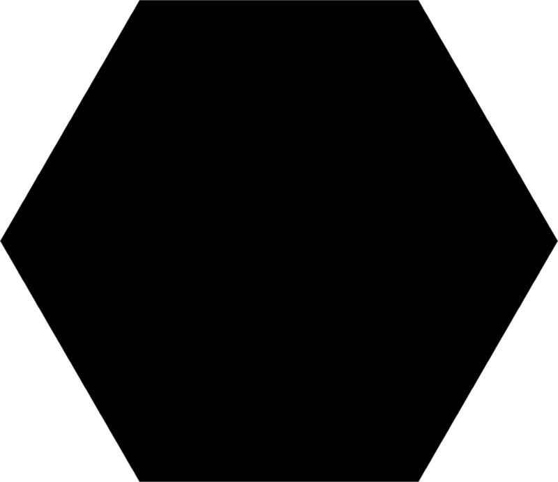 Basis Black Hexagon 22x25cm