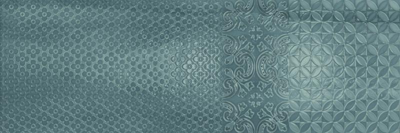 Murale Turquoise, 25x70cm