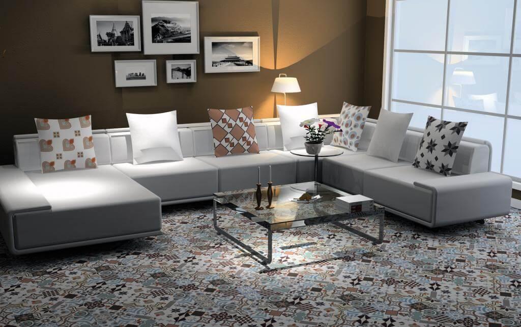 Patroontegel vloer woonkamer