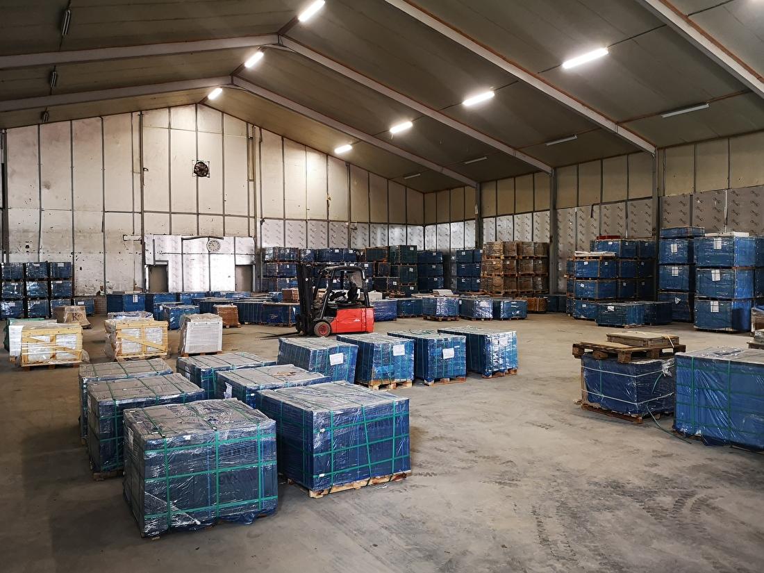 Tegelimporteur voorraad magazijn
