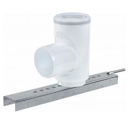 Rookgasafvoer PP 80 mm - Steunbocht 90° voor vast buis