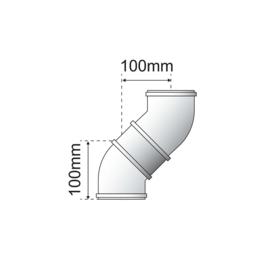 Bulex schouw 60/100 - Bocht 45°