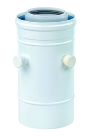 Ubbink Rolux PP120/aluminium Aansluitstuk met 2 meetnippels Ø 60/100