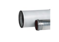 Ubbink Rolux aluminium/kunststof Schuifstuk tbv telescopische uitvoering (250 mm) Ø 60/100
