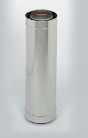 Ubbink Rolux Rookgasafvoerbuis PP120/inox verlengstuk 500 mm Ø 60/100