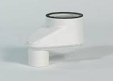 Ubbink Rolux Adapter 80/80 - 80/125 kunststof wit (spruitstuk