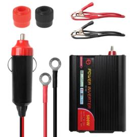 Omvormer 12VDC naar 230VAC, 500Watt met 1 USB poort