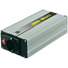 Omvormer 12VDC naar 230VAC, 600Watt continu, zuivere Sinus