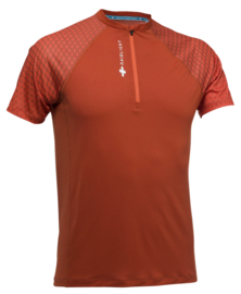 ACTIV RUN SS SHIRT MID ZIP (LIGHT) (ORANGE)