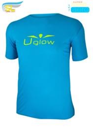 UGLOW-SL | T-SHIRT SUPERSPEED AERO | LUCHTBLAUW/GEEL