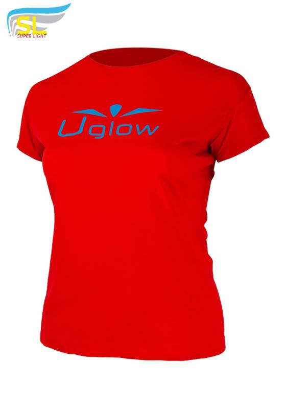 UGLOW-SL   T-SHIRT SUPER LIGHT WOMEN   ROOD
