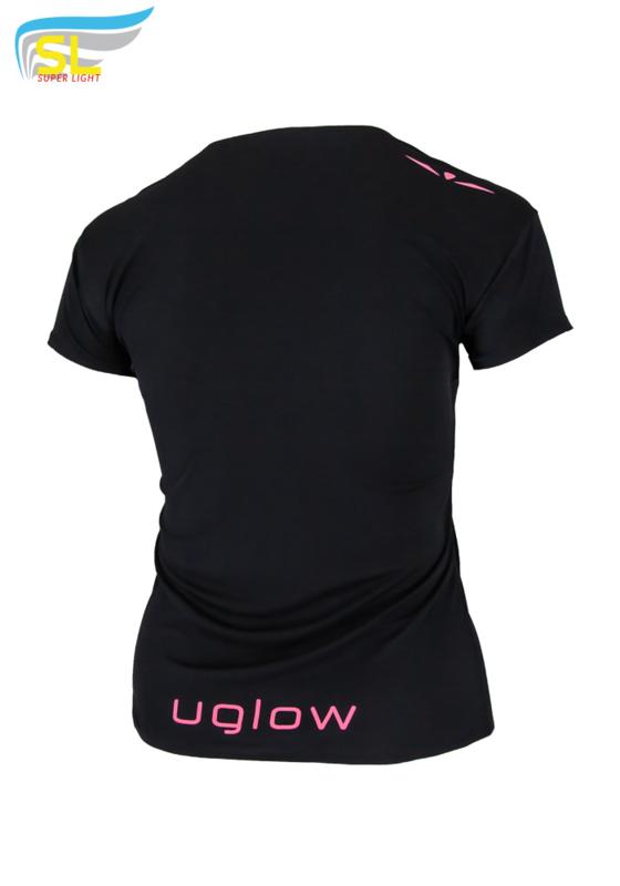 UGLOW-SL   T-SHIRT SUPER LIGHT WOMEN   ZWART