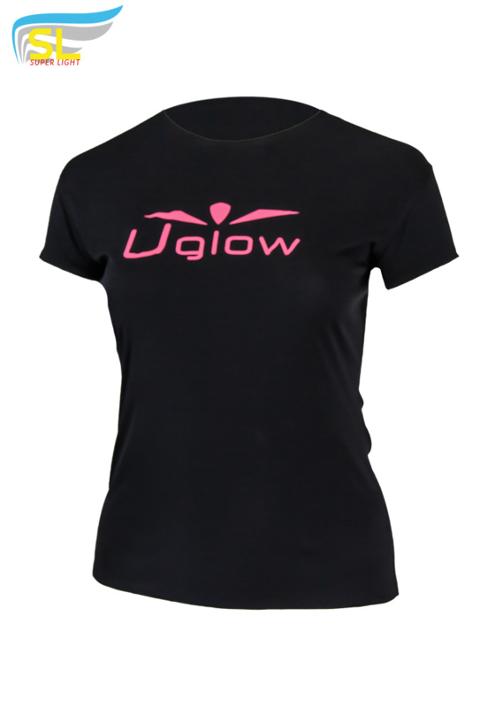 UGLOW-SL | T-SHIRT SUPER LIGHT WOMEN | ZWART