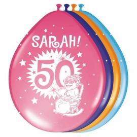 Ballonnen Sarah Explosion / 8 stuks
