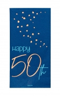 Servetten Happy 50th elegant true blue