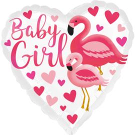 Baby Girl Flamingo-43cm Art.nr: 39633