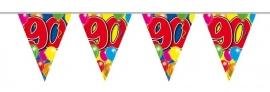 Vlaggenlijn, Slinger Balloons 90 Jaar /10Mtr