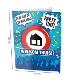 Raambord Welkom thuis (Window sign)