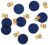 Confetti Elegant True Blue 80 jaar