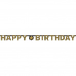 Letterslinger Sparkling Gold Happy Birthday