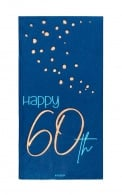 Servetten Happy 60th elegant true blue