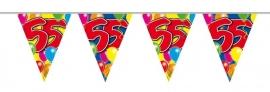Vlaggenlijn, Slinger Balloons 55 Jaar /10Mtr