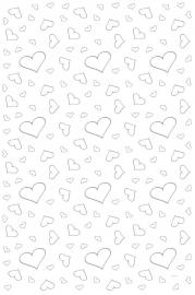Witte Loper met Zilveren Hartjes 4.5Mtr x 60Cm
