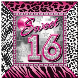 Servetten Sweet 16 / 25cmx25cm / 20st