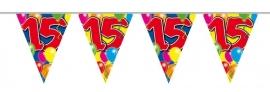 Vlaggenlijn, Slinger Balloons 15 Jaar /10Mtr