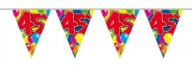 Vlaggenlijn, Slinger Balloons 45 Jaar /10Mtr
