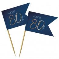 prikkers 80 jaar elegant true blue