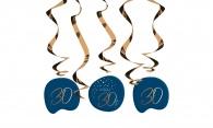 Hangdecoratie Elegant True Blue 30 jaar 5stuks