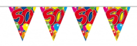 Vlaggenlijn, Slinger Balloons 50 Jaar /10Mtr